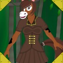 steampunk anthro pony